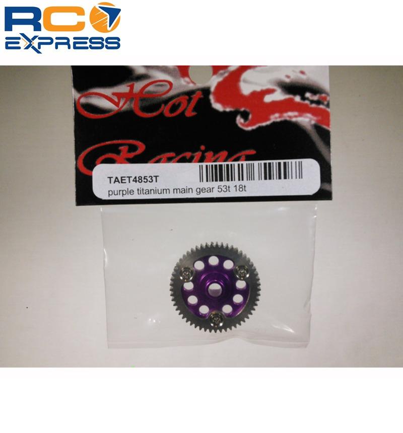 18t TAET4853T 53t Hot Racing Associated 18t 18mt Purple Titanium Main Gear