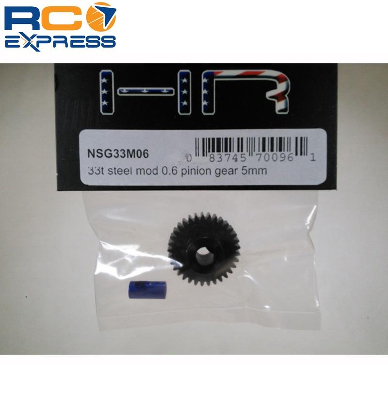 Hot Racing NSG33M06 33t Steel Mod 0.6 Pinion Gear 5mm