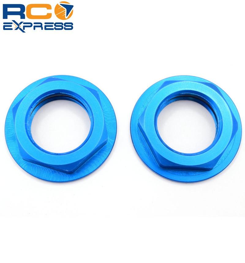 Hot Racing WHM2306F Aluminum Blue Flanged M17 23mm Hex Lock Nut 2