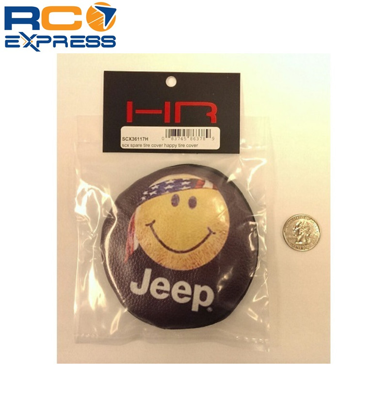 Hot Racing 1//10 Scale Happy Face Spare Tires Cover SCX10 Toy SCX36117H